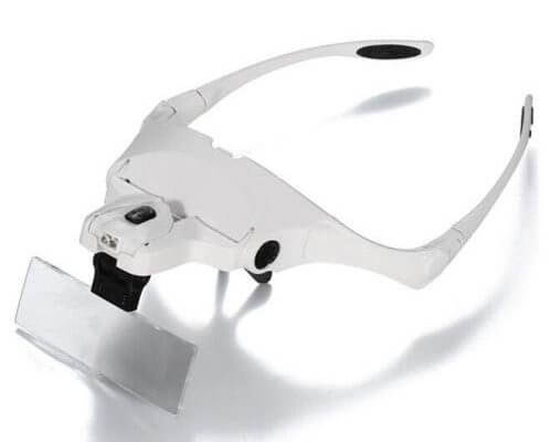 Headband Headset LED Head Light Jeweler Magnifier Magnifying...