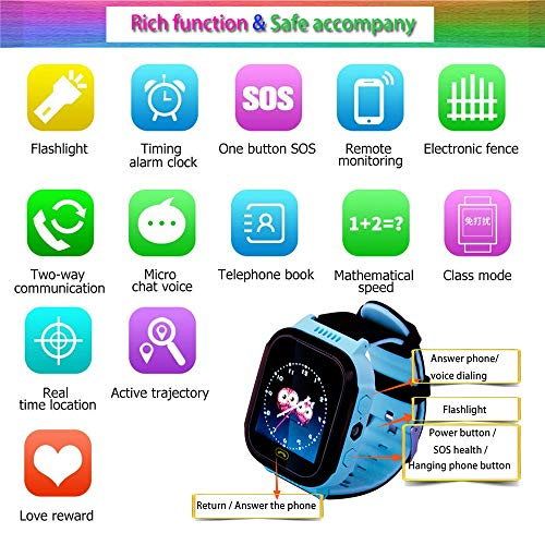 Kids smartwatch with Call and Location Tracking, Emergency S... 2
