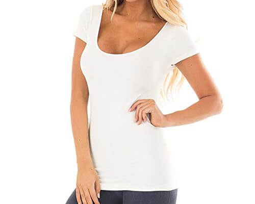TWGONE Tunic Shirts For Women Short Sleeve Solid Causal Blou...