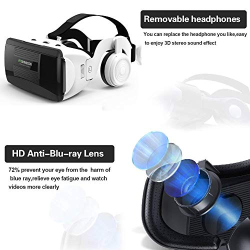 3D VR Virtual Reality Glasses with Handle Set Remote Control... 3