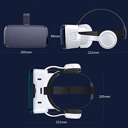 AYI 3D VR Glasses, Head-Mounted Virtual Reality Glasses, Sui... 6