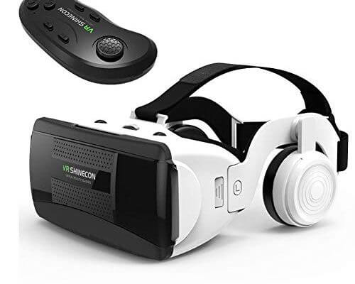 3D VR Virtual Reality Glasses with Handle Set Remote Control...