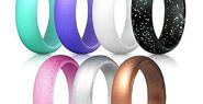 AlexGT Stretchable Silicone Ring - 7 Colors Fit for Sports O...