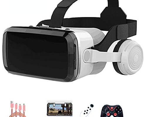 AYI 3D VR Glasses, Head-Mounted Virtual Reality Glasses, Sui...