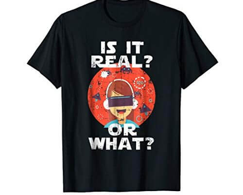 Virtual Reality HMD Interactive Game VR Headset T-Shirt