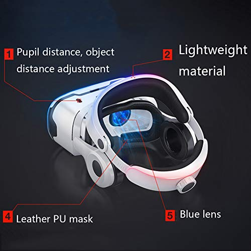 YANJINGYJ VR Headsets,VR Glasses Virtual Reality Glasses, He... 2