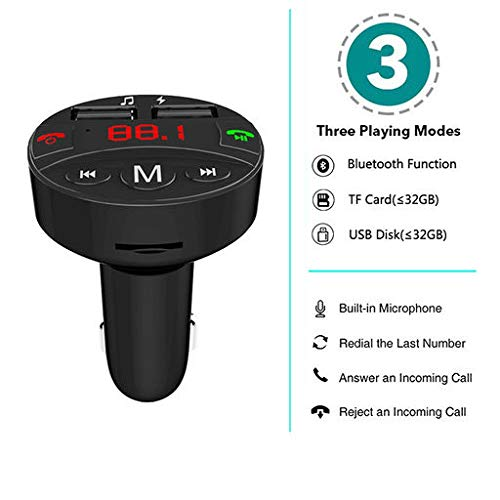 Lyperkin Car Bluetooth FM Transmitter, FM Radio Adapter Tran... 2