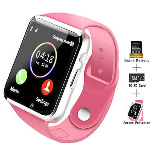 COSROLE Bluetooth Smart Watch, A1 Touch Screen Smart Wrist W... 1
